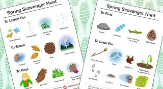 Image: Printable Spring Scavenger Hunt, by Shanti Nordholt-McPhee and Trev Murphy