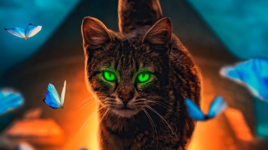 Cat, Animals, Digital Art, 4K, #6.449