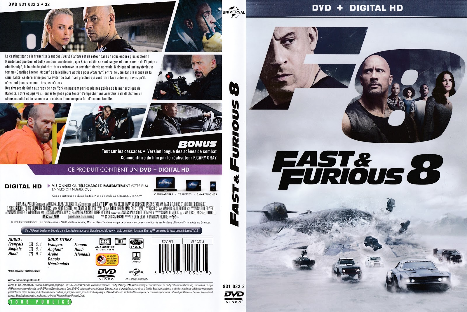 jaquette dvd jaquette dvd fast and furious 8. Black Bedroom Furniture Sets. Home Design Ideas