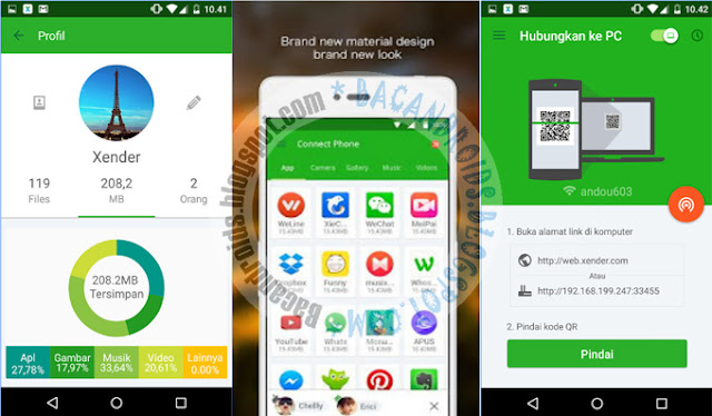 Download Xender For Android v3.2.0823 Apk Terbaru Tranfer file tercepa ke Android atau PC