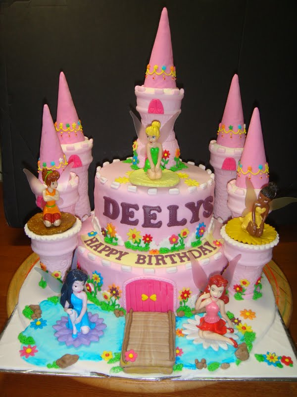 Yummy Baking Tinklebell Castle Fondant Cake