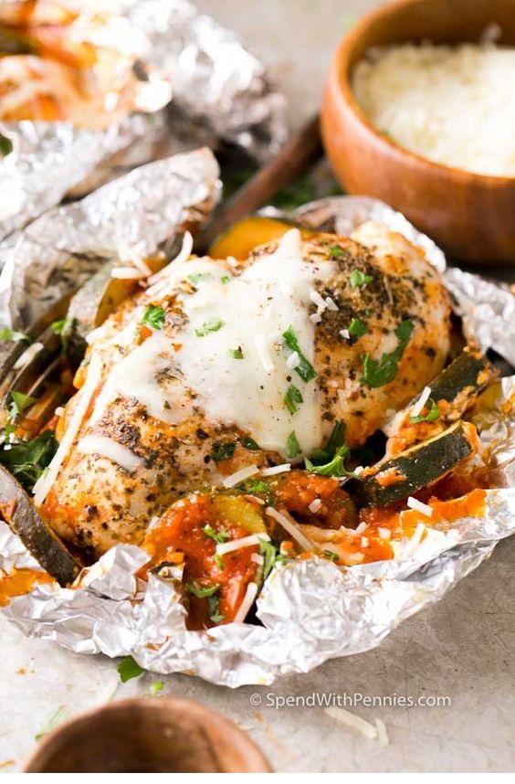 Chicken Parmesan Foil Packets