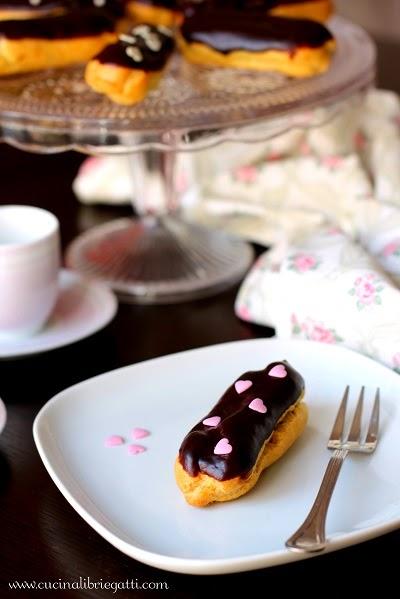 eclair bignè al cioccolato ricetta