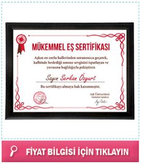 bayana kişiye özel sertifika