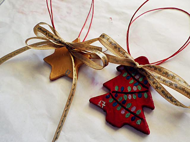 DIY Christmas clay ornaments tutorial