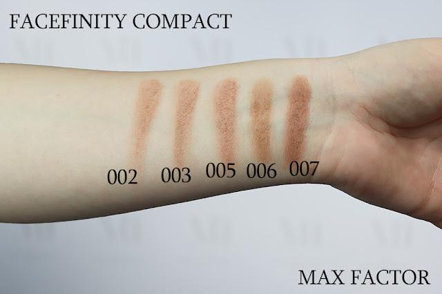 Facefinity Compact Mac Factor puder podkład w kompakcie swatche kolory ivory matujący SPF 20 recenzja test