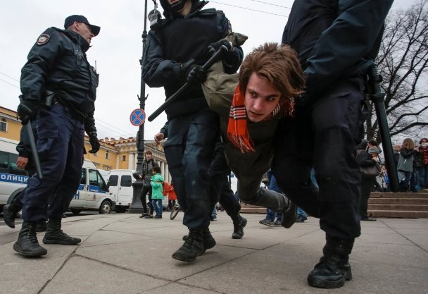 Россия, разгон демонстрации