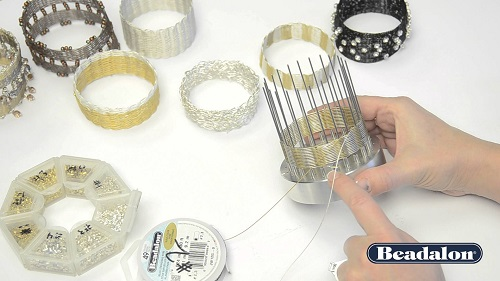 Beadalon Bangle Weaving Tool and Tutorials - The Beading Gem\'s Journal