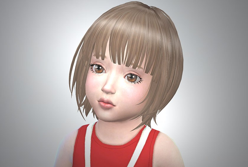 My Sims 4 Blog Kijiko Hairs Updated for Toddlers