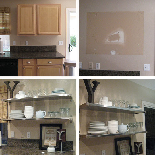 Open Kitchen Shelves Instead Of Cabinets: Open Shelving In The Kitchen