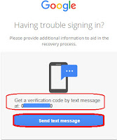 how to recover gmail account using phone number