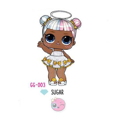 Куколка с обложки шара ЛОЛ Сюрприз блестящий гламур Sugar GG-003
