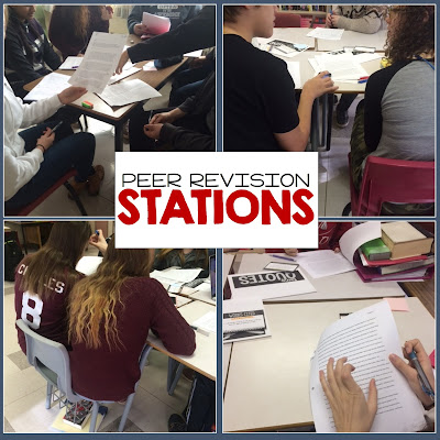 Learning stations are perfect for peer revision