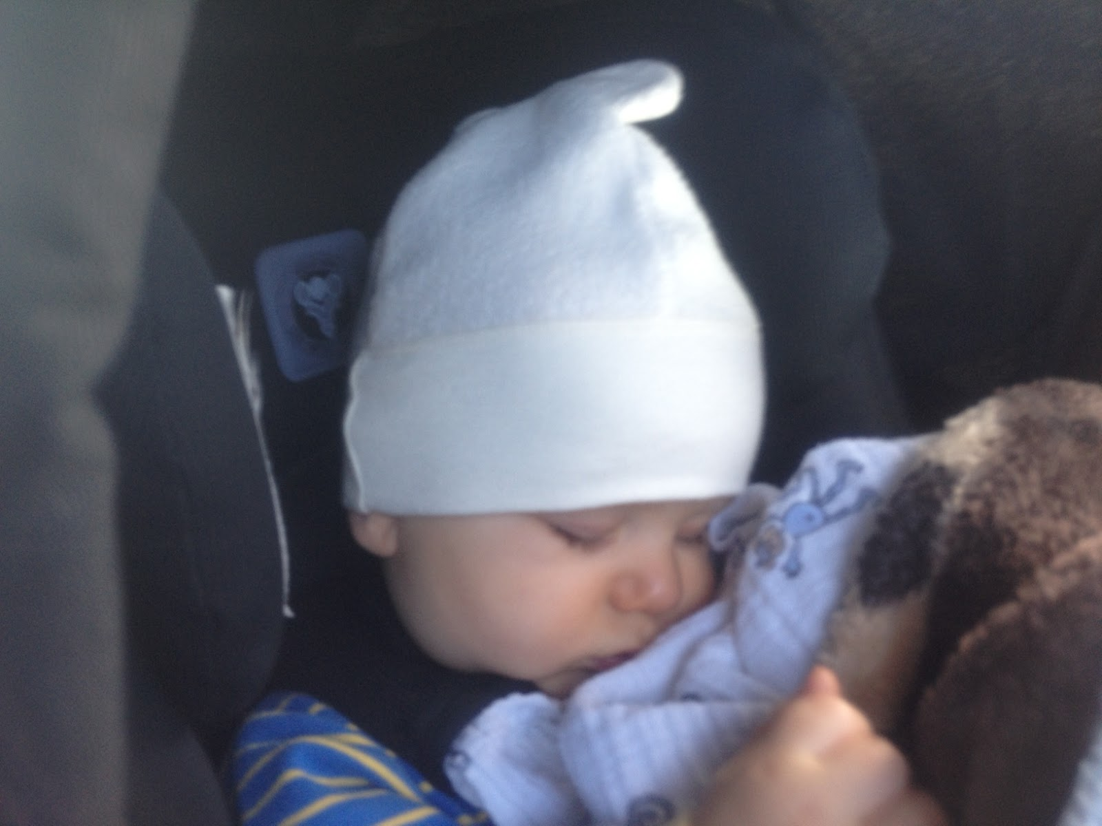 Starting a new trend  sideways-hat-wearing while sleeping. a32c58a4798
