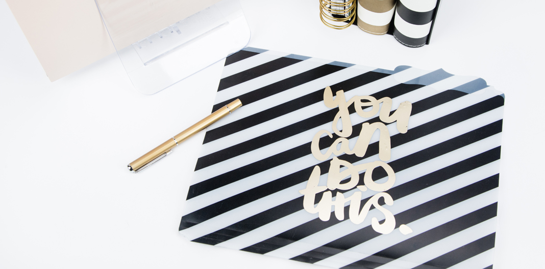 DIY Foiled Folders by @createoften