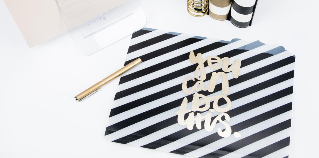 DIY Foiled Folders by @createoften
