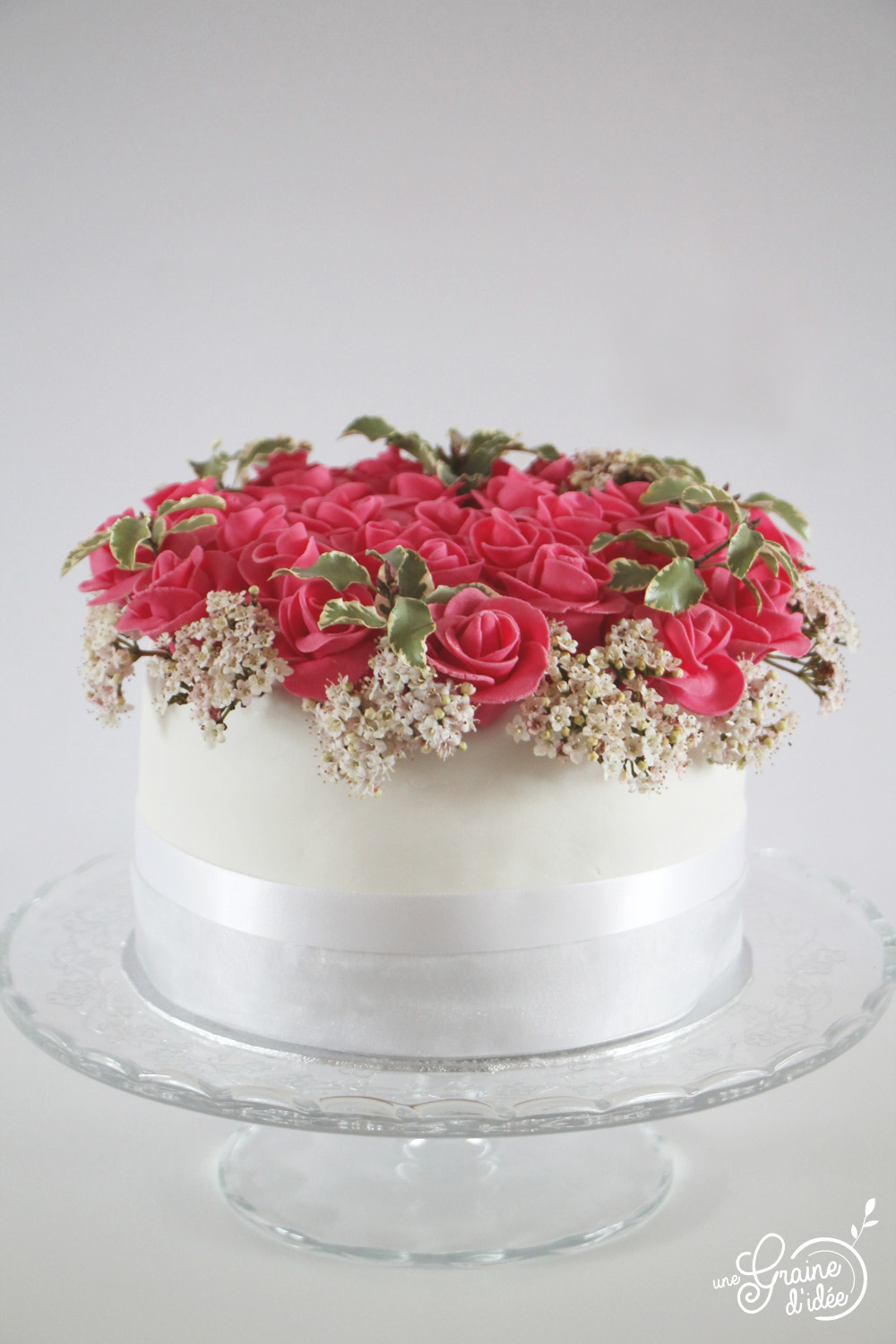 Layer Cake Bouquet De Roses Une Graine D Idee