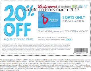 Walgreens coupons march