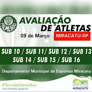 Palmeiras realiza avaliação técnica em Miracatu