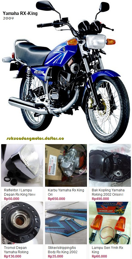 Yamaha RX King parts catalog