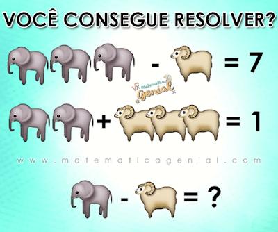 Quanto vale elefante menos carneiro?