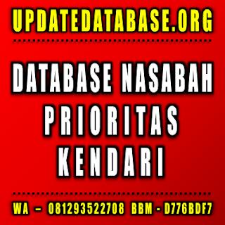 Jual Database Nasabah Prioritas Kendari