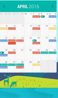 Aplikasi Kalender Android gratis 2016 Calendar Widget Month