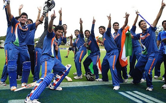 India Celebrate their win like Usain Bolt Style