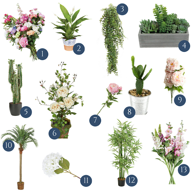Some of the best and most realistic looking artificial plants and flowers, including my pick of the faux and fake flowers from the high street at affordable prices