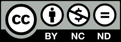 クリエイティブ・コモンズの表示 - 非営利 - 改変禁止 4.0 国際 ライセンスのバナー
