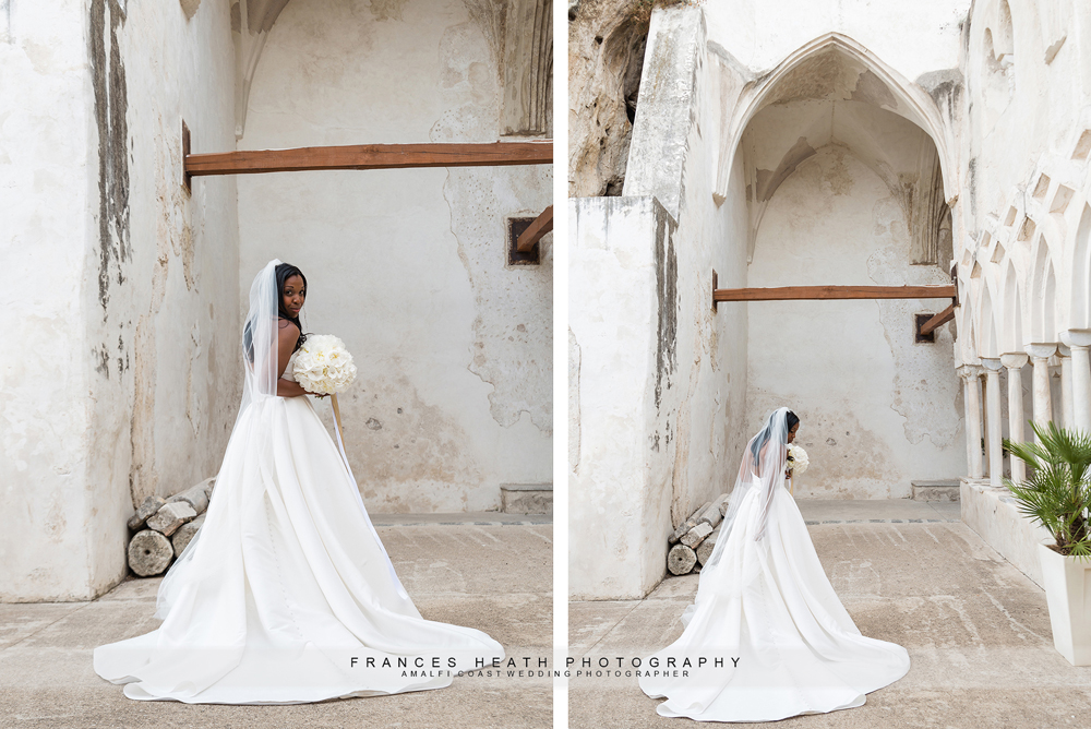 Bridal portrait at NH Hotel Convento in Amalfi