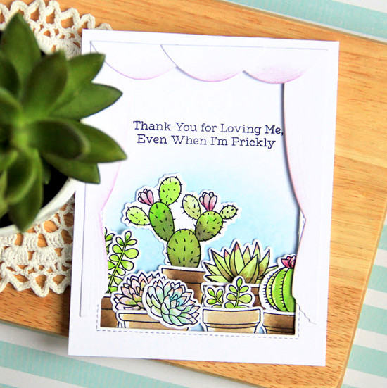 Laina Lamb Design Sweet Succulents stamp set and Die-namics - Margarita Pochekutova #mftstamps