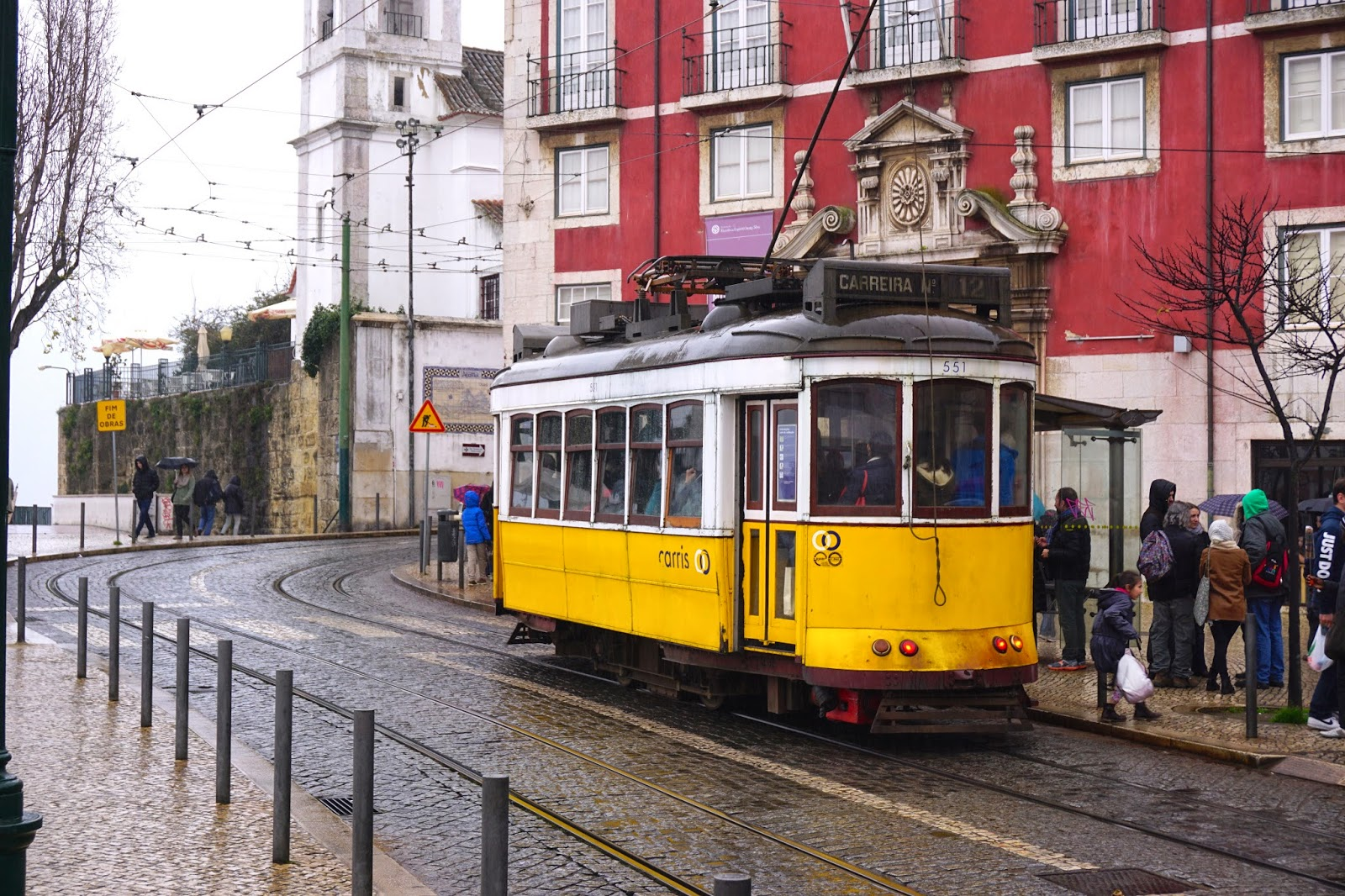 The famous tram 28 tourist tram in Lisbon