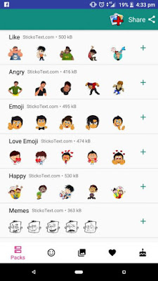Cara Menambahkan Text Caption pada WhatsApp Stickers - WhatsApp Stickers 2