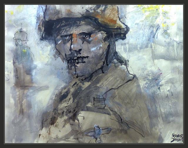 SOLDADO-ALEMAN-ARTE-PINTURA-SEGUNDA GUERRA MUNDIAL-EXPRESION-ART-GERMAN-SOLDIER-WWII-PINTURAS-PAINTINGS-ARTISTA-PINTOR-ERNEST DESCALS