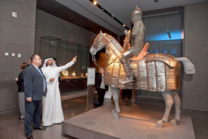 FM at Museum of Islamic Art, Doha — First Minister Alex Salmond tours the Museum of Islamic Art in Doha during his visit to the Middle East.