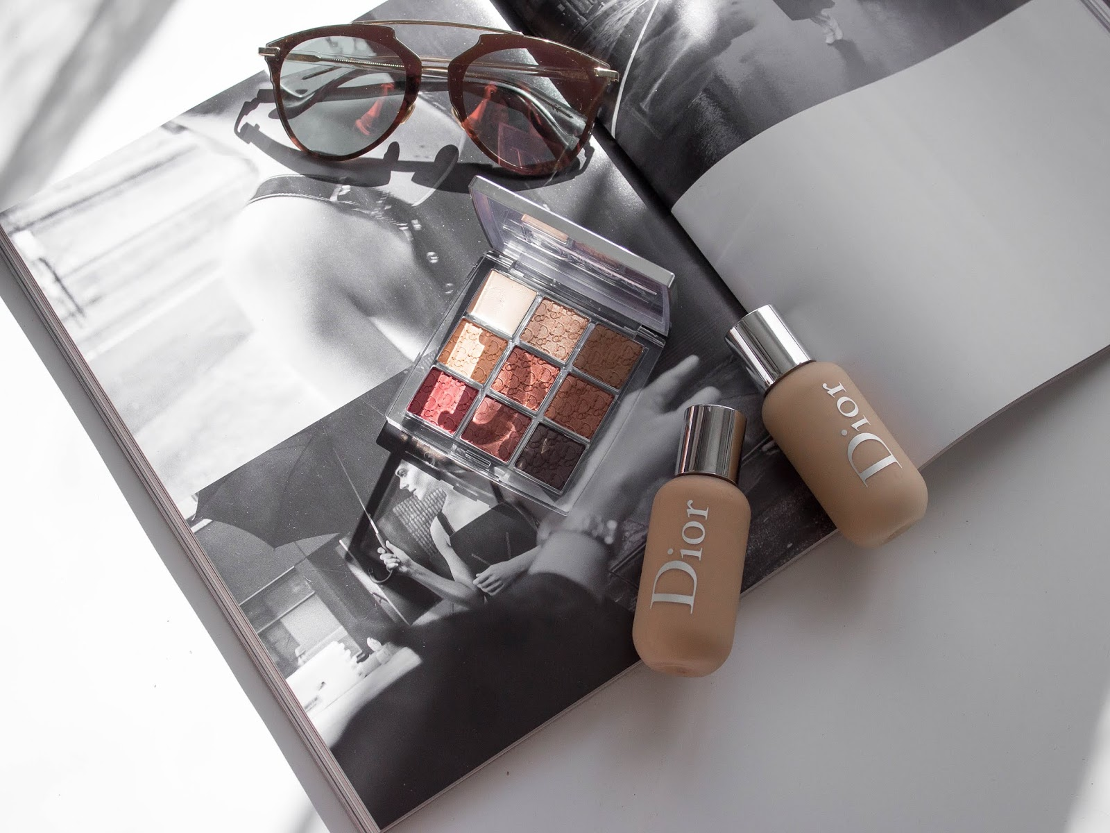 dior backstage Amber Neutrals