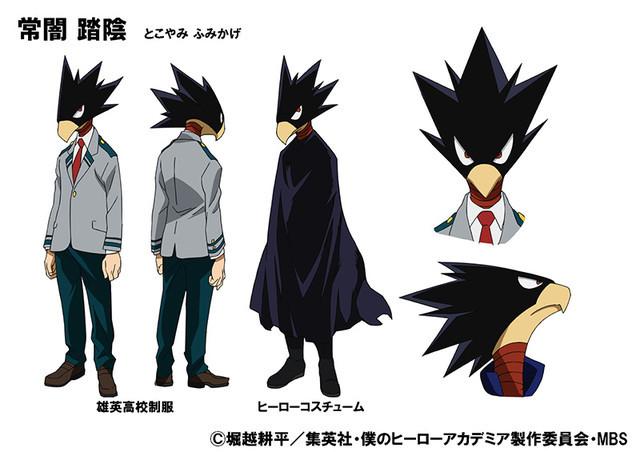 Projekt postaci Fumikage Tokoyami