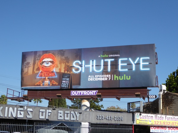 Shut Eye series launch billboard