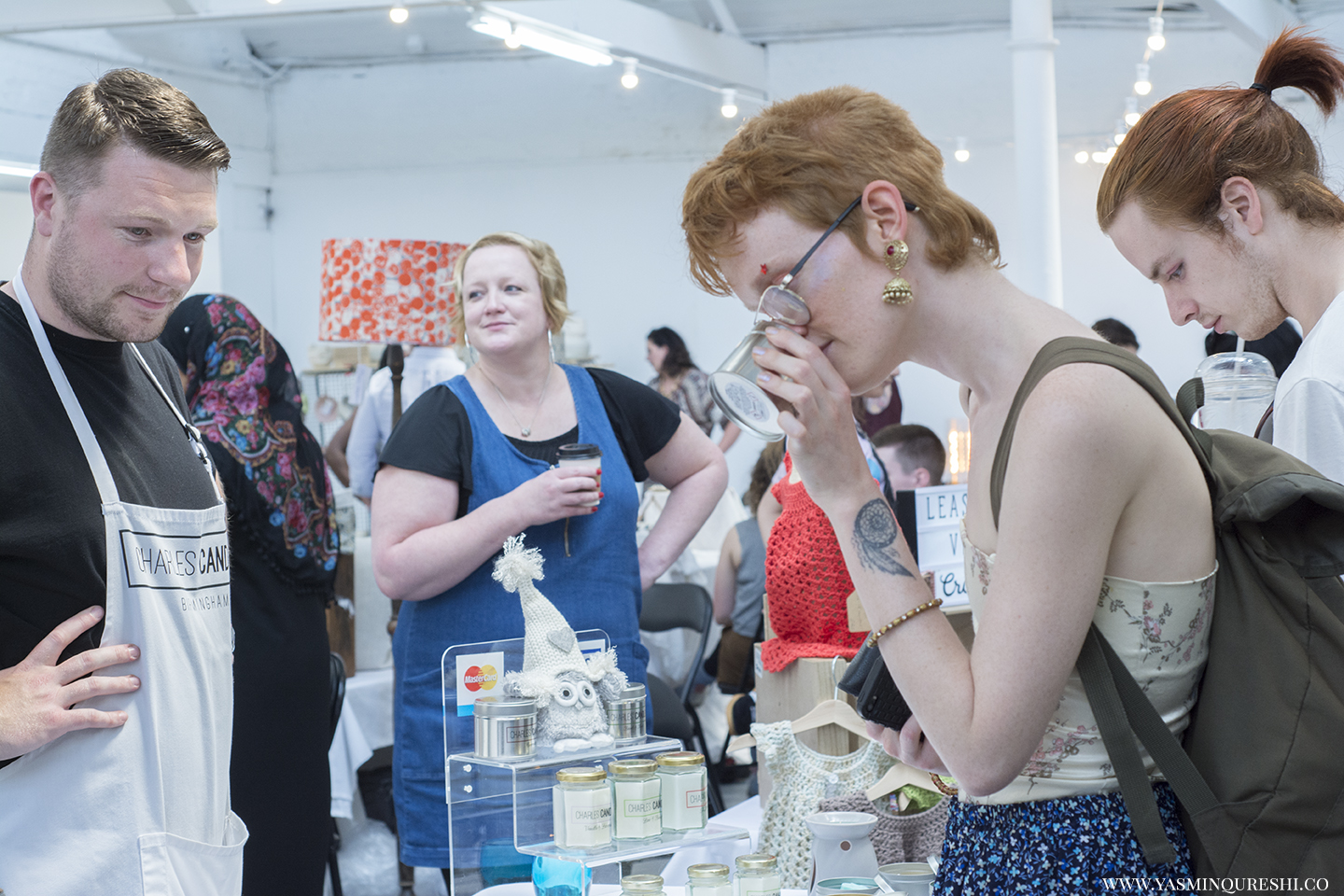Charles Candles at the Paperdolls Handmade event. Photography by Yasmin Qureshi