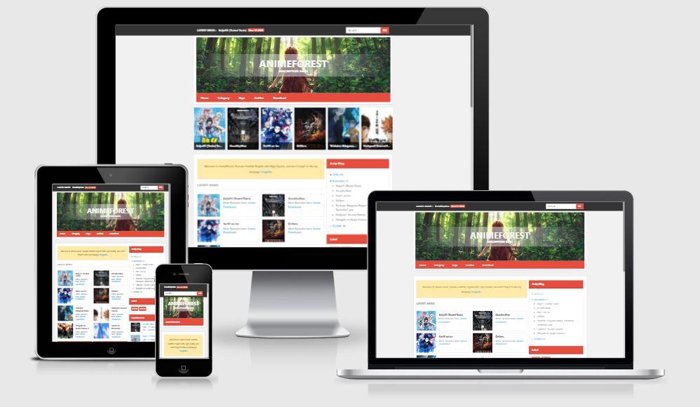 AnimeForest Blogger Templates - Giao diện chia sẻ phim Anime cực đẹp