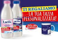 Logo Lactis ti regala la tazza personalizzata con foto: premio sicuro
