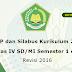 RPP SILABUS Kurikulum 2013 Kelas IV SD/MI Semester 1 dan 2 Revisi 2016