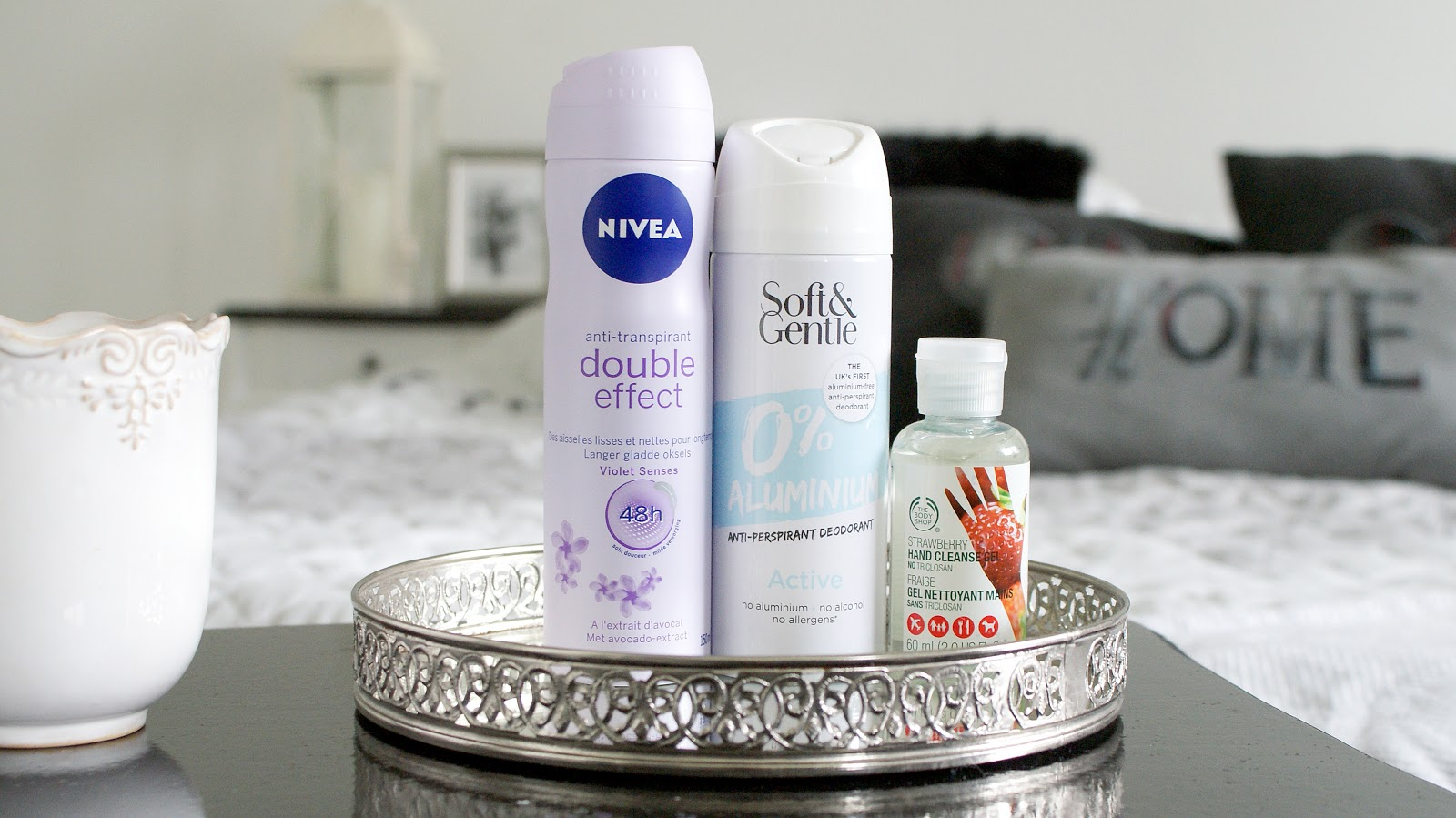 antyperspirant w spray, antyperspirant nivea, nivea, soft&gentle, antyperspirant bez soli aluminium, the body shop, żel antybakteryjny do rąk,