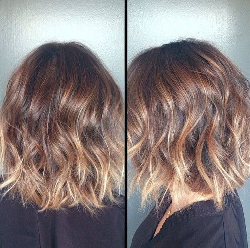 Brown Blonde Ombre Short Hair