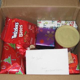 Sneak peek of my Secret Santa goodies.