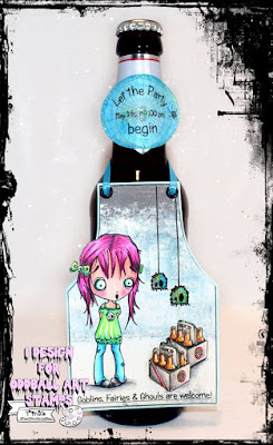 oddballart lizzy love ghosts digi stamp creepy cute