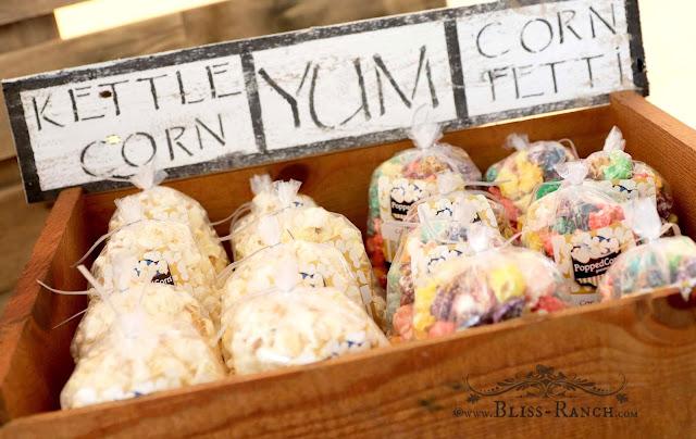 PoppedCorn Popcorn Cart Wedding, Bliss-Ranch.com