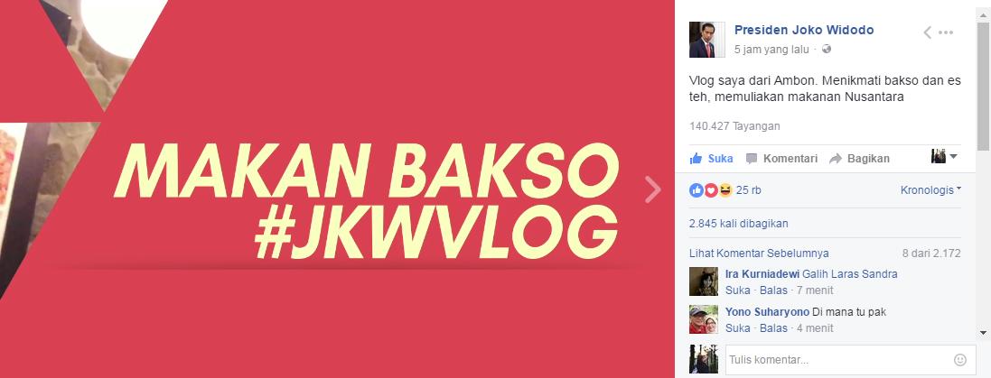 VIRAL! Vlog Pak Jokowi Bersama Para Menteri Makan Bakso di Ambon