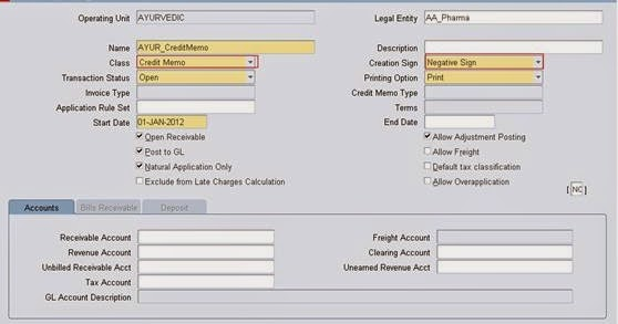 Oracle Applications Credit Memo and Debit Memo in Oracle Receivables - how to sign a memo